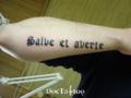 Font tattoo