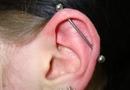 Ear 'industrial' piercing