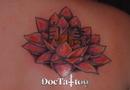Lotus & kanji tattoo