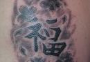 Luck kanji tattoo
