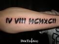 Roman numbers tattoo